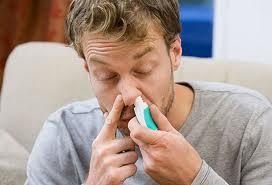 Nasal Spray and Man